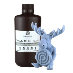 Résine PrimaCreator Value Water Washable UV 1000ml Gris Clair